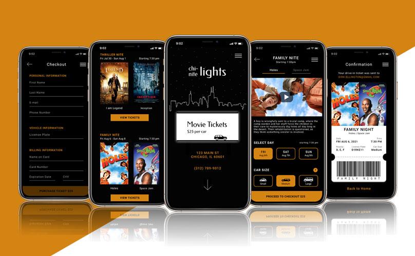 Chi-Nite Lights Mobile Screens.