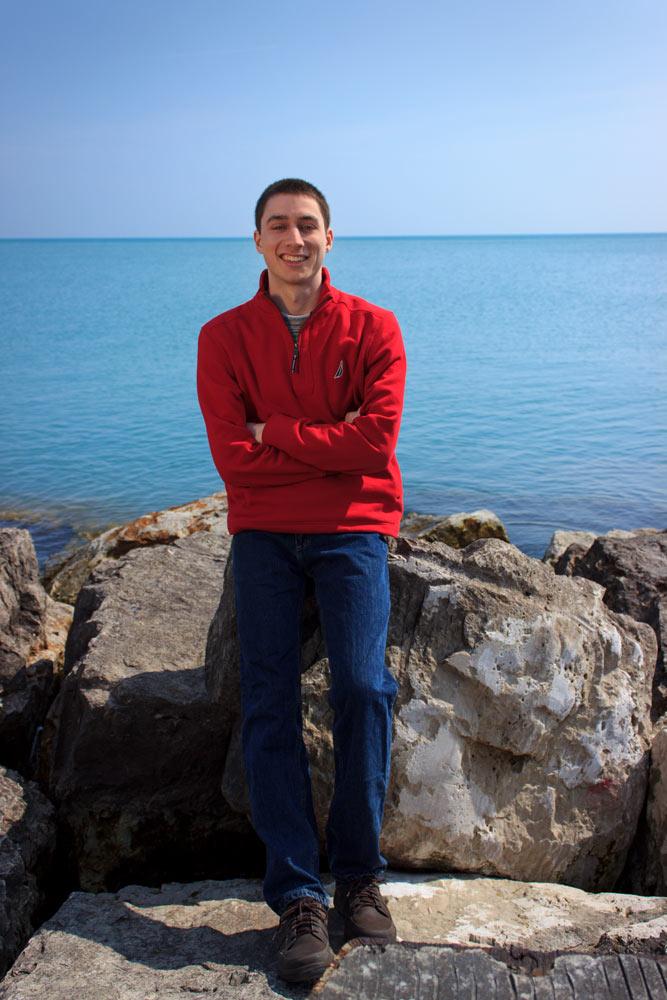 Tim by Lake Michigan.