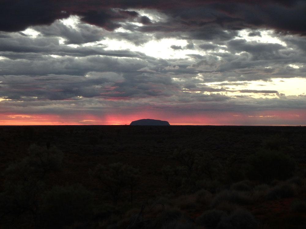 Ayers Rock at Sunrise.