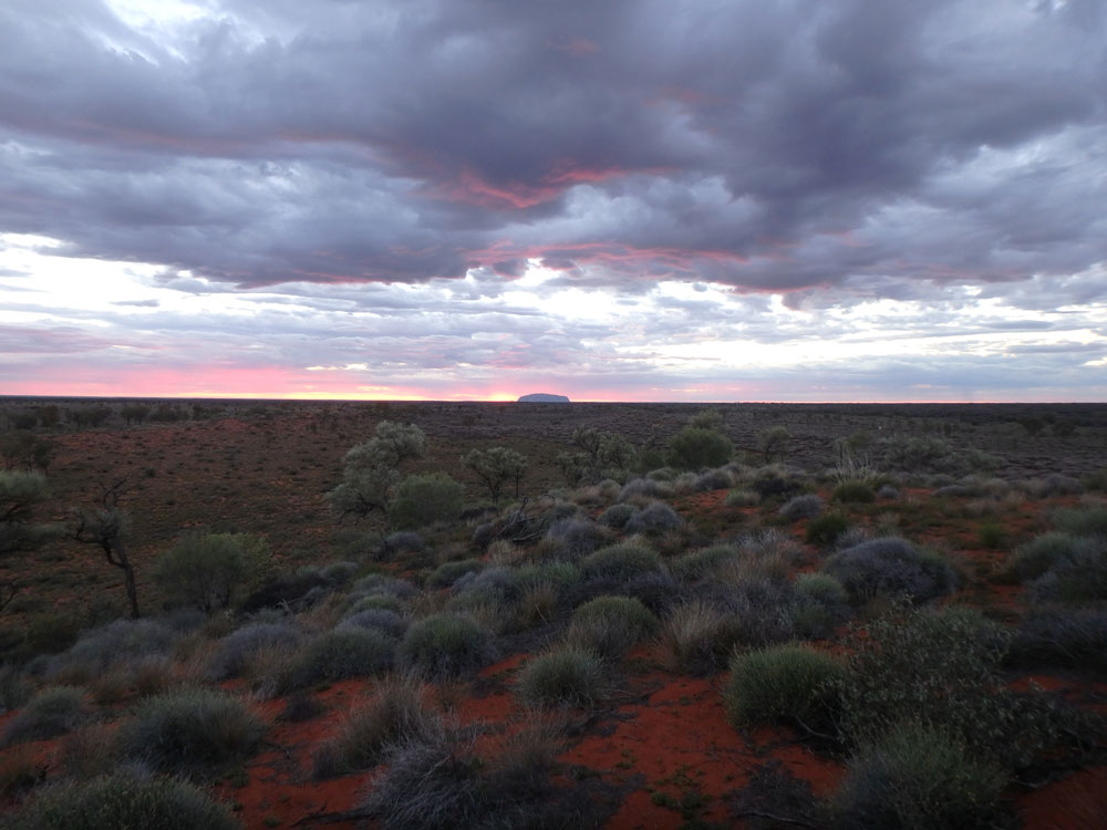 Ayers Rock at Sunrise.