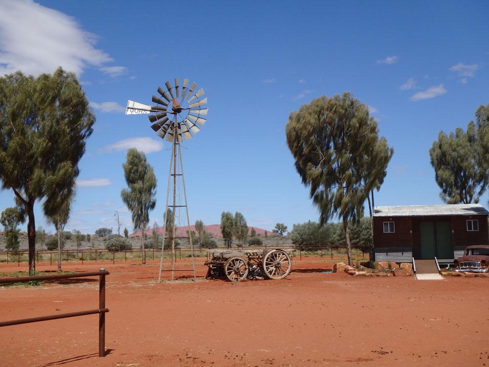 Australian Outback Near Ayers Rock.