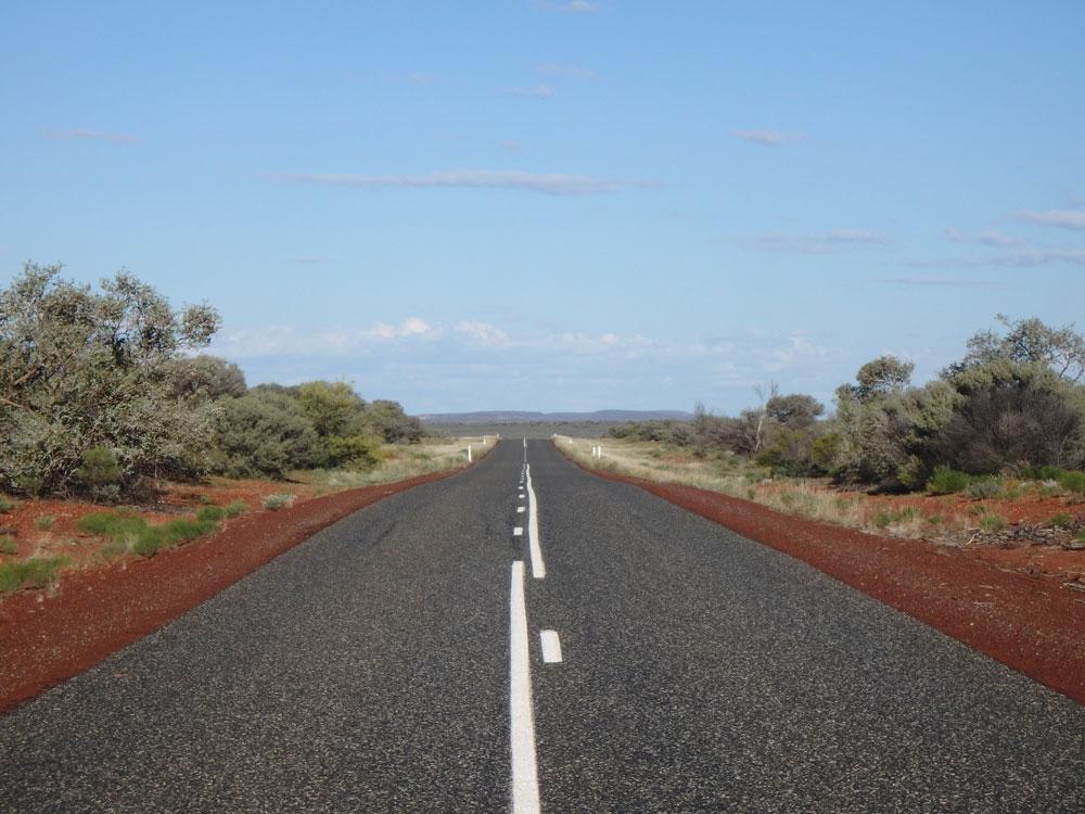 Road in Australian Northern Territory.