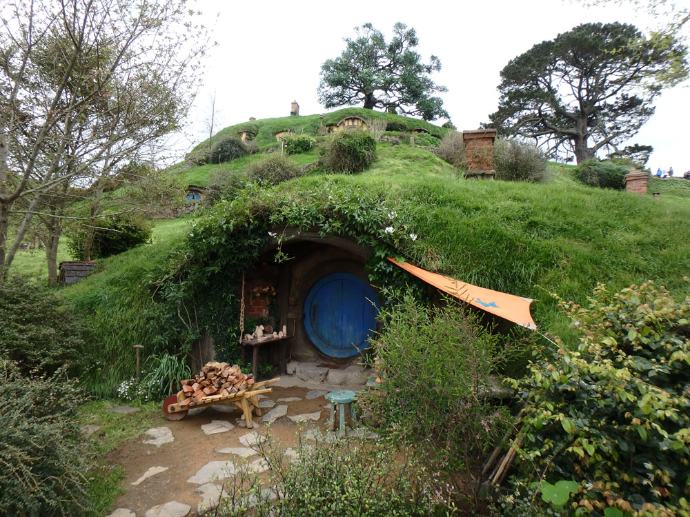 Hobbiton Movie Set.