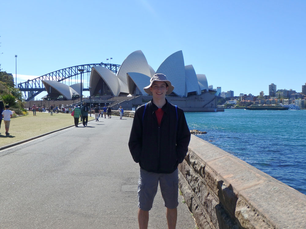 Tim in front of Opera House.