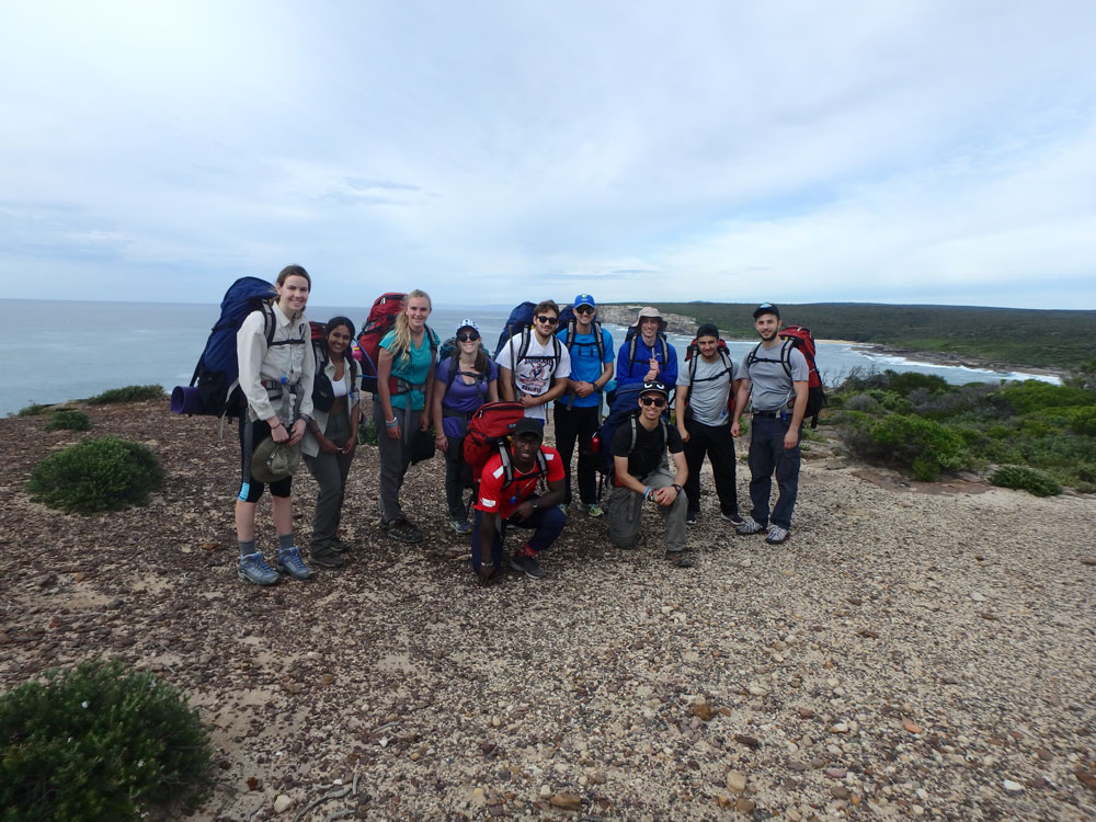 Group picture in Royal National Park.