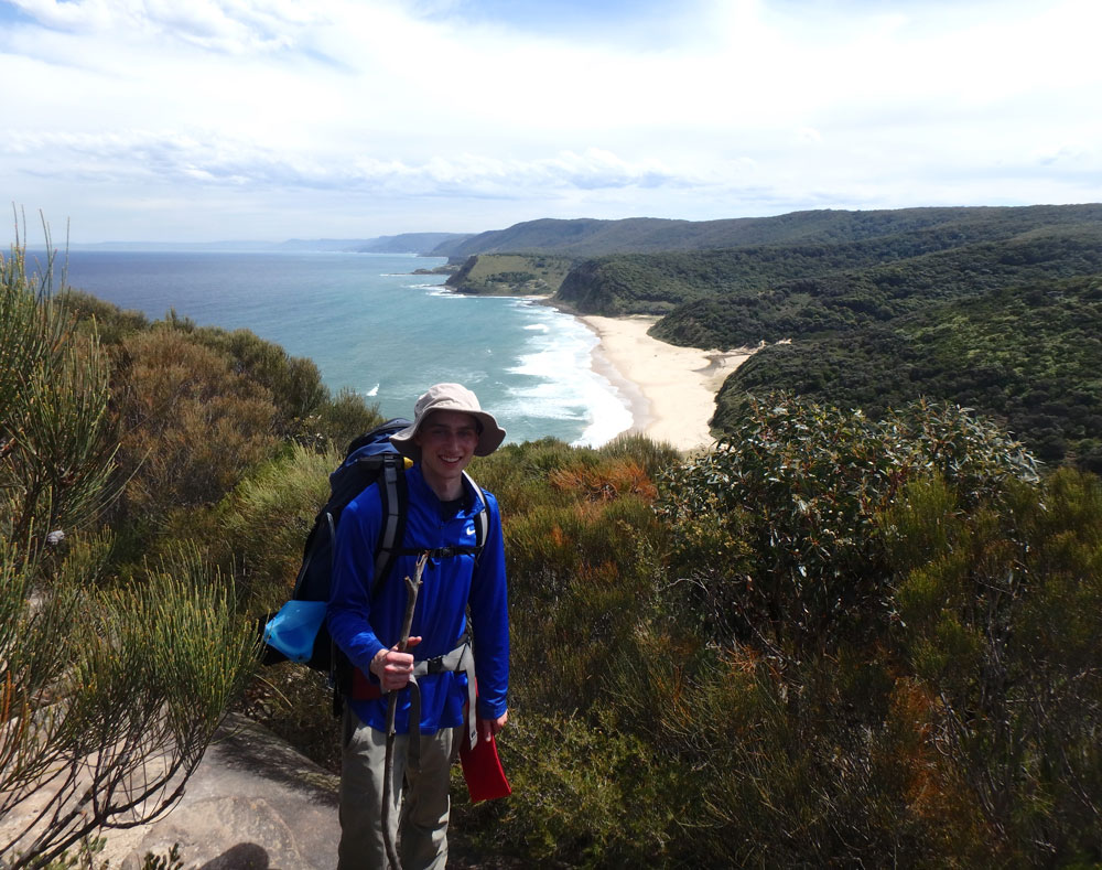 Hiking through Royal National Park.