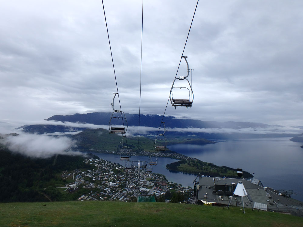 Gondola in Queenstown, New Zealand.