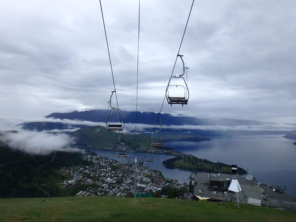 Gondola in Queenstown, New Zealand.