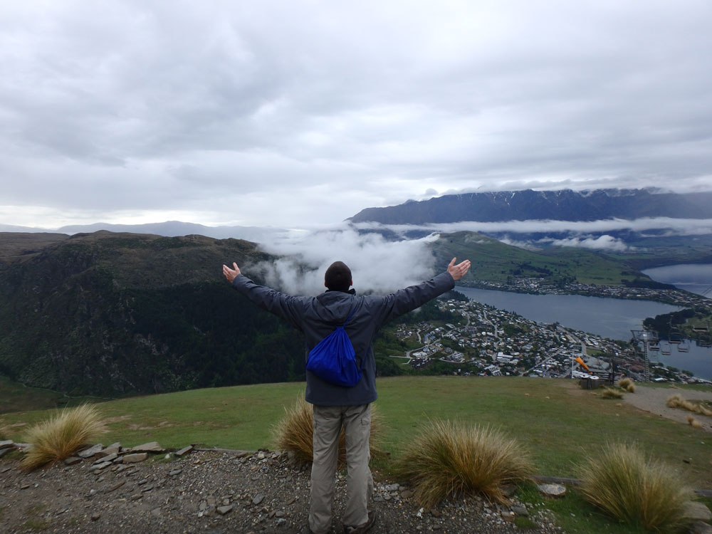 Overlooking Queenstown and The Remarkables.