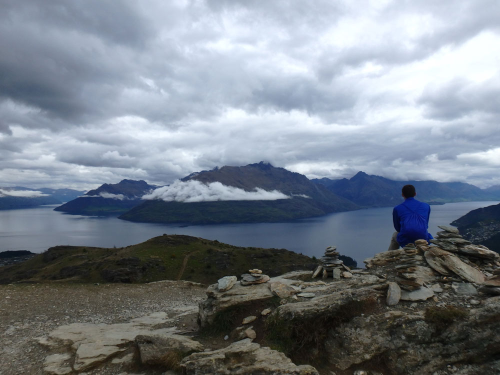 Overlooking Queenstown and Lake Wakatipu.