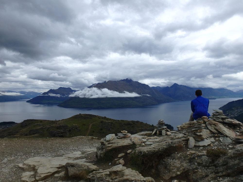 Overlooking Queenstown and Lake Wakatipu.