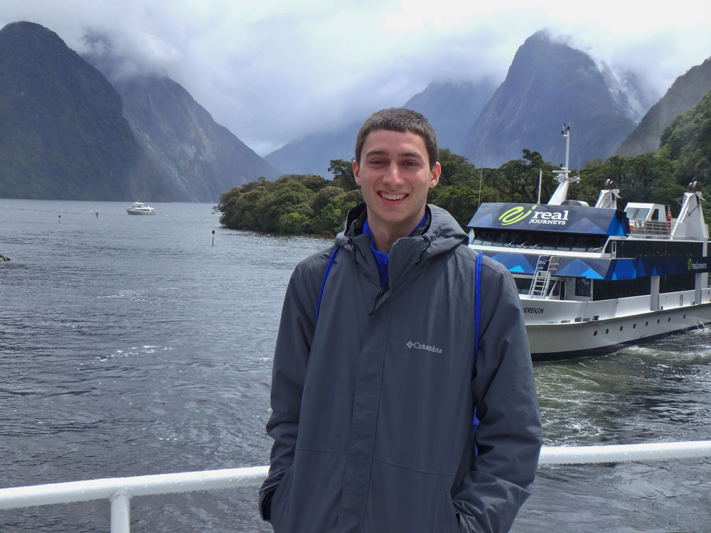 In front of Milford Sound.