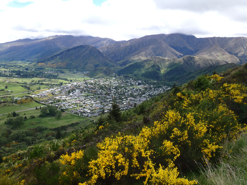 Overlooking Arrowtown, New Zealand.
