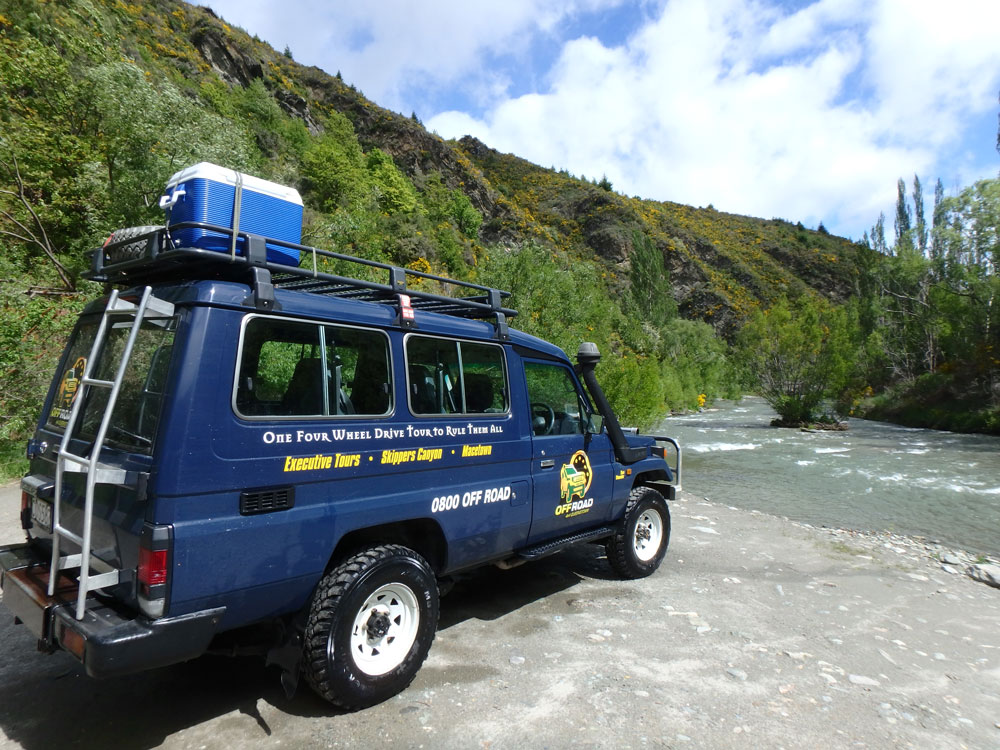 Four Wheel Driving in New Zealand's south island.