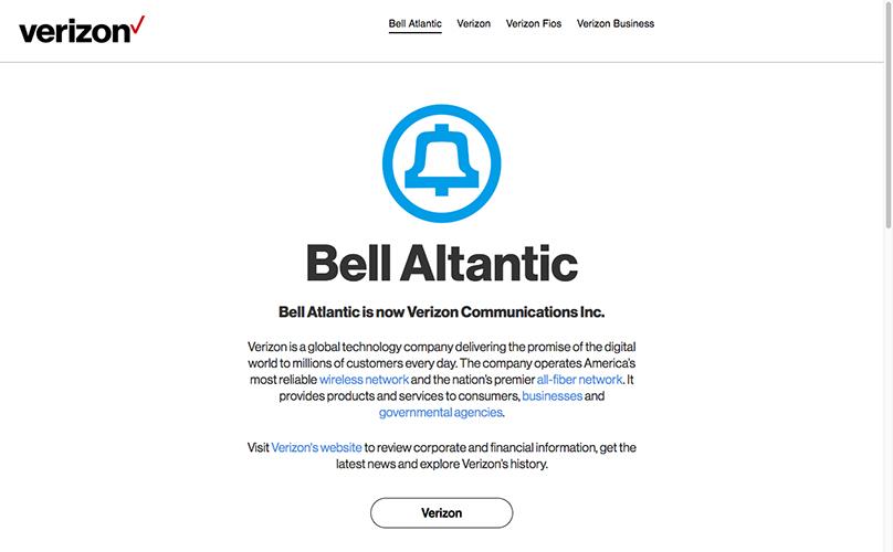 Bell Atlantic Screenshot.