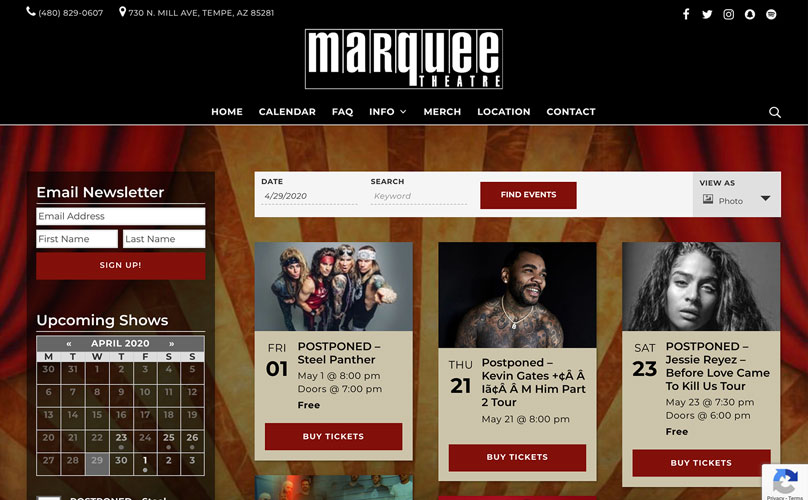 Marquee Theater Screenshot.